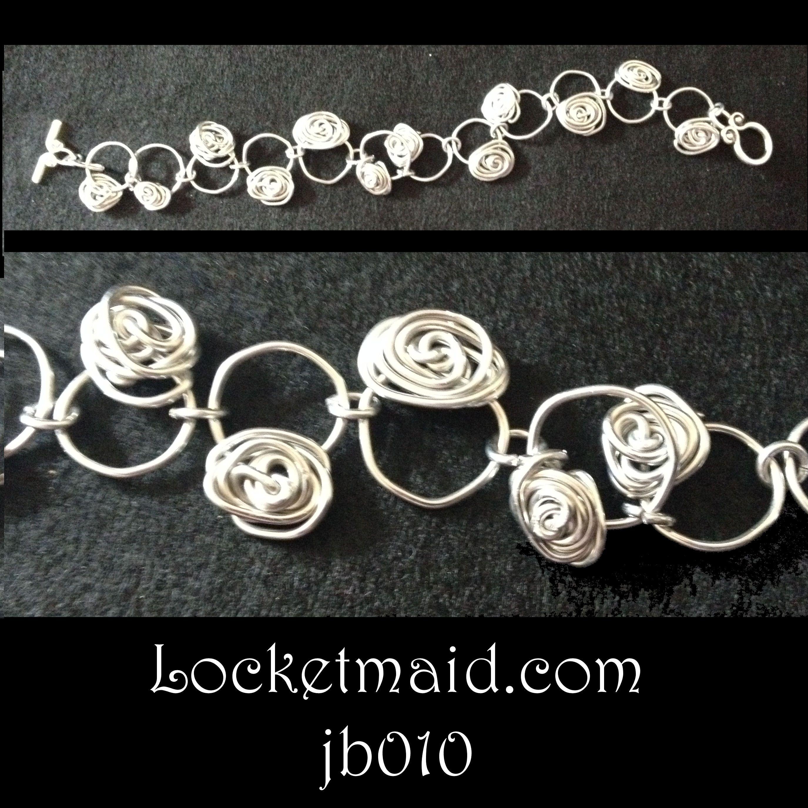 Bracelet - aluminium jewellery wire with flower detail £6 on www.locketmaid.com