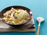 Chicken-and-Dumpling Soup. This hearty bowl boasts fragrant white wine, fresh thyme and tarragon-laced biscuits.