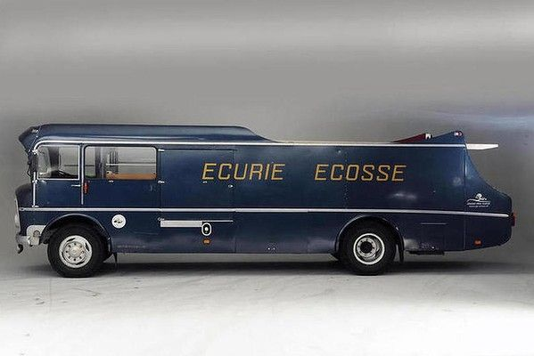 1960 Commer TS3 three-car transporter for the Ecurie Ecosse race team sold for $3.2m at Bonhams' auction in London.