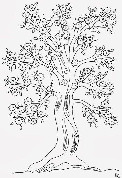 Pin Von Eva Gubik Auf Tree And Leaves Coloring Pinterest Baum