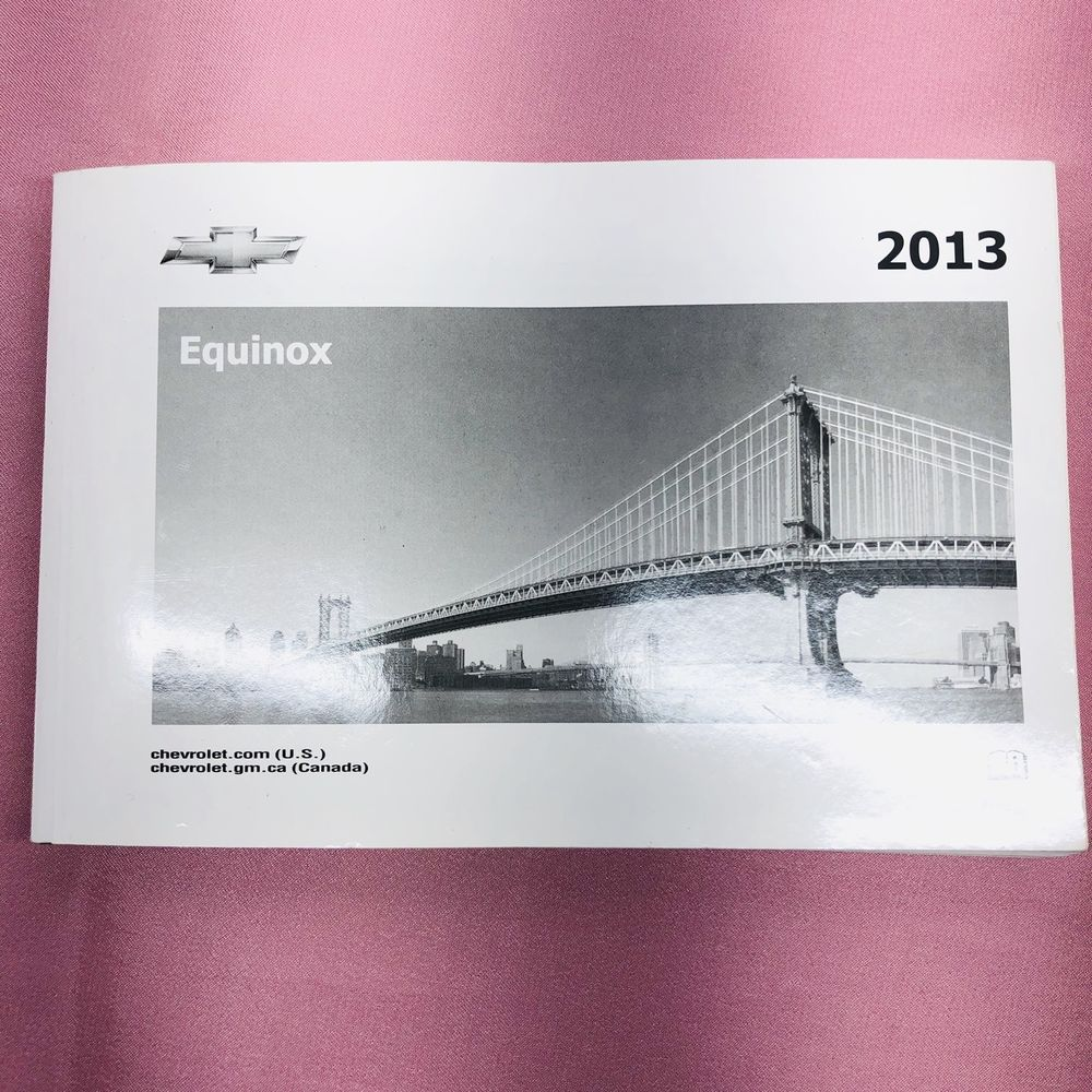 2013 Chevrolet Equinox Owners Manual Ebay Chevrolet Equinox