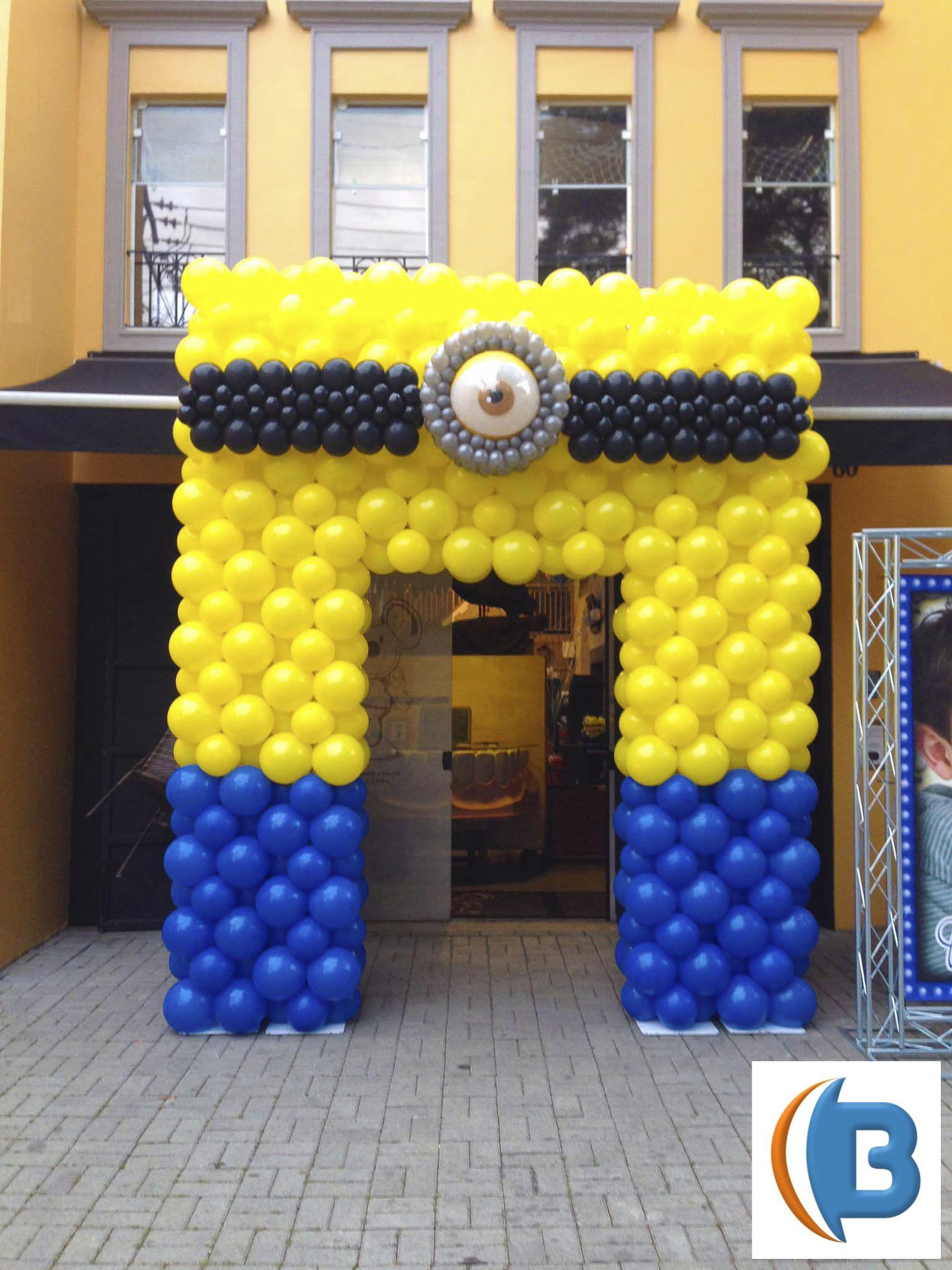 Portal de entrada dos Minions by Cenário Balões | Minions | Pinterest