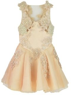 Shop Embroidery Flower Skater Dress with Pearl Embellished from choies.com .Free shipping Worldwide.
