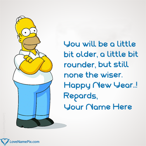 Funny Happy New Year Wishes Quotes: Write Any Name And Create Funny Happy New Year Message