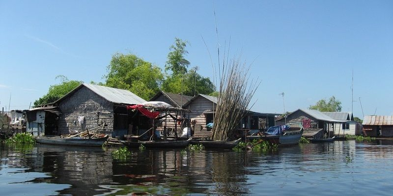 Floating village Chong Kneas in Cambodia
