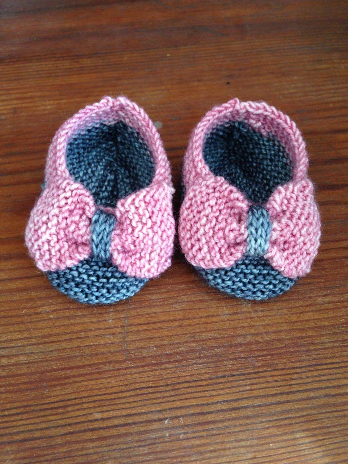 Baby Bootie Knitting Patterns | Babyschühchen, Stricken und Stricken ...