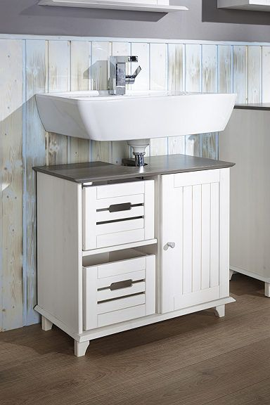 Waschbeckenunterschrank »Sylt«, Landhaus, Breite 65 cm - d nisches bettenlager badezimmer