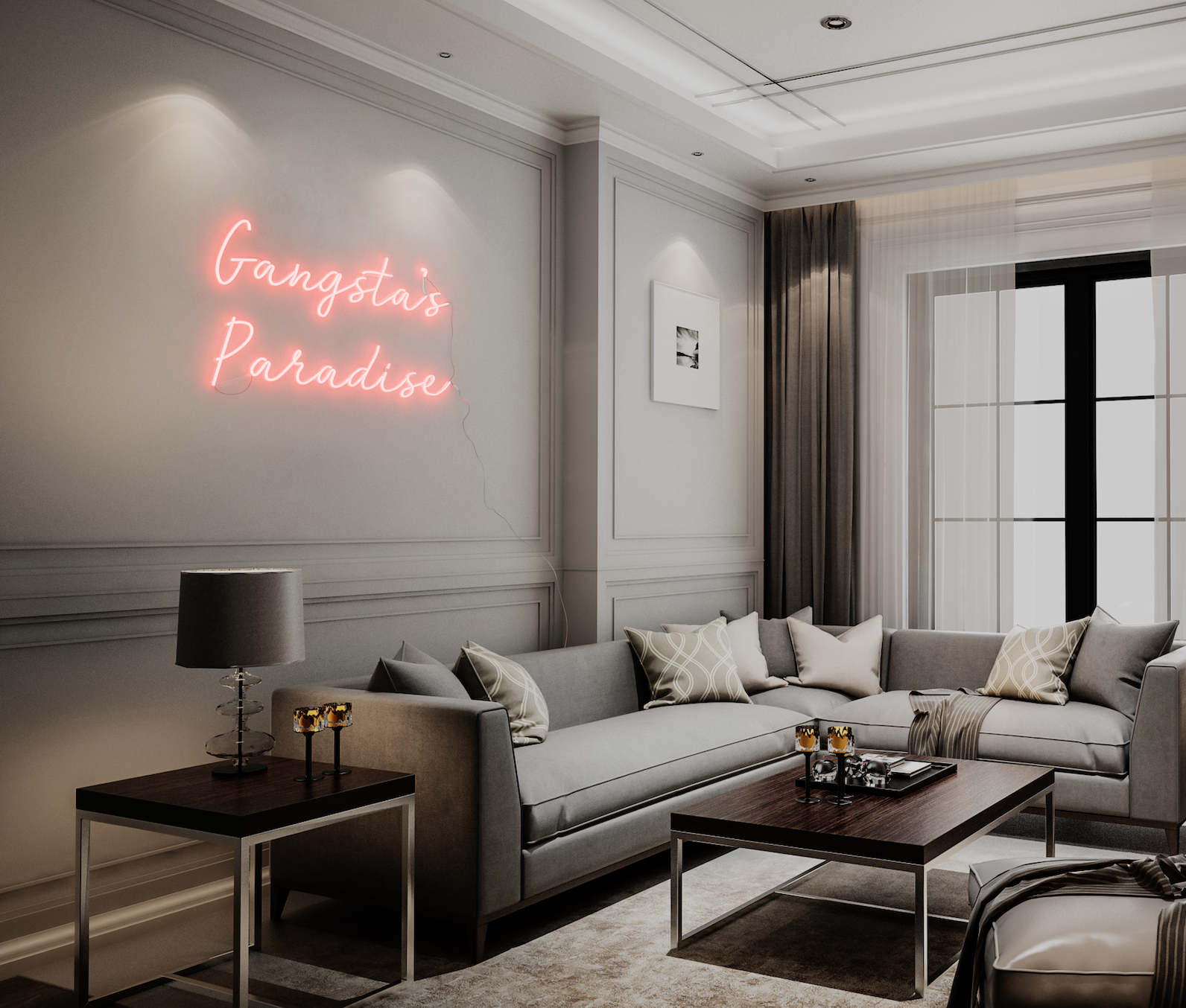 Gangsta S Paradise Neon In 2020 Gangsta S Paradise Interior Neon Signs Home