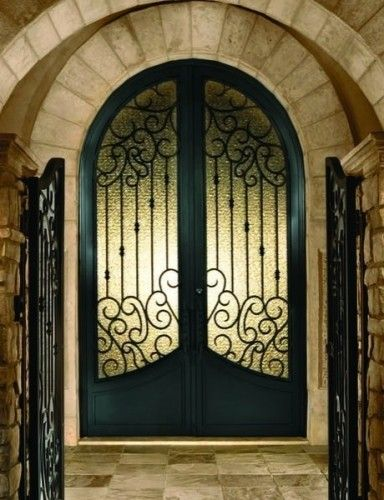 arched double front doors. I Dream Of Double Doors! Arched Mediterranean Front Doors G