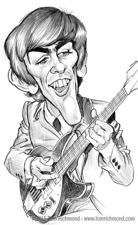 George Harrison by Tom Richmond