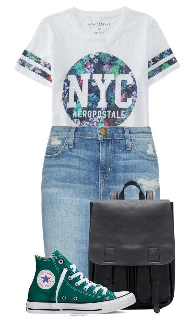 """""""Untitled #25"""" by jorge21 on Polyvore featuring Aéropostale, Current/Elliott, Converse, women's clothing, women's fashion, women, female, woman, misses and juniors"""