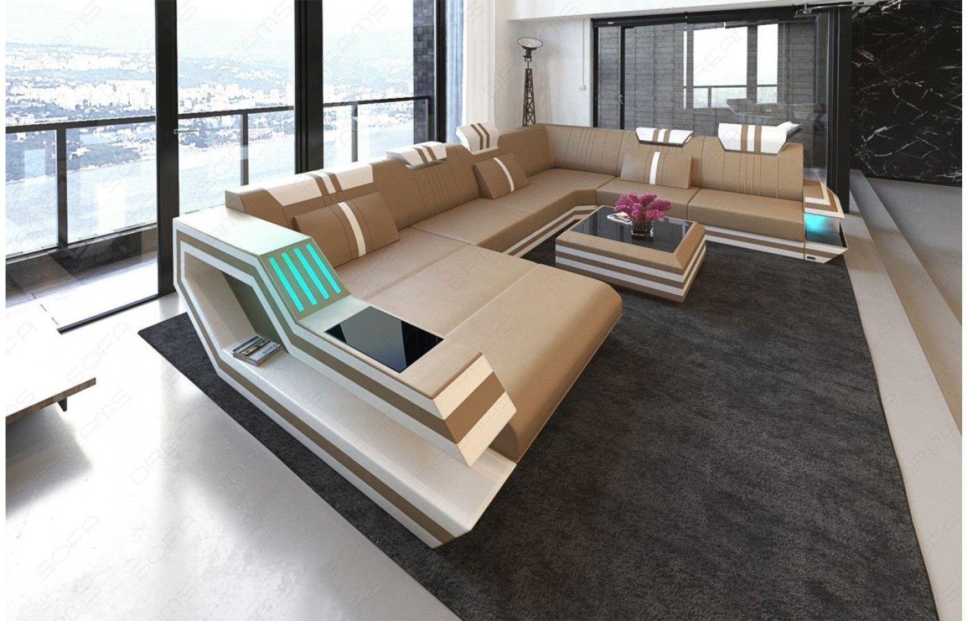 Xxl Wohnlandschaft Ravenna Leder Wohnzimmer Sofa Sofas Wohnzimmer Sofa Design