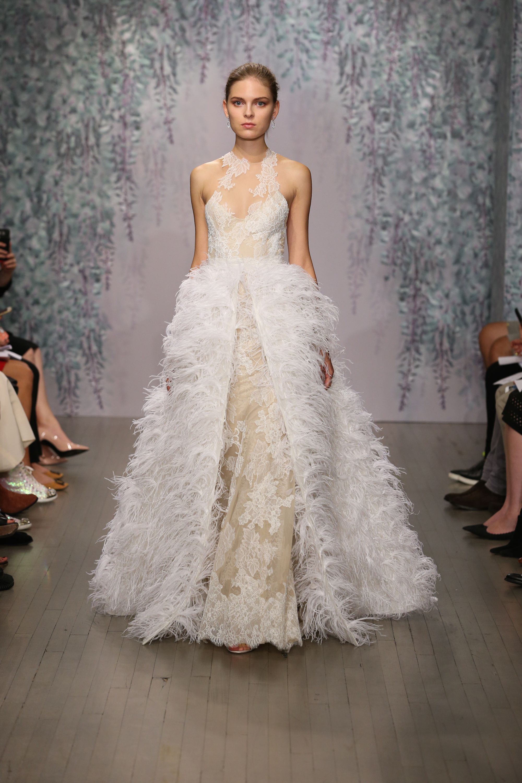 Detachable skirt wedding dress  Hottest Trends from Bridal Week Fall   Monique lhuillier