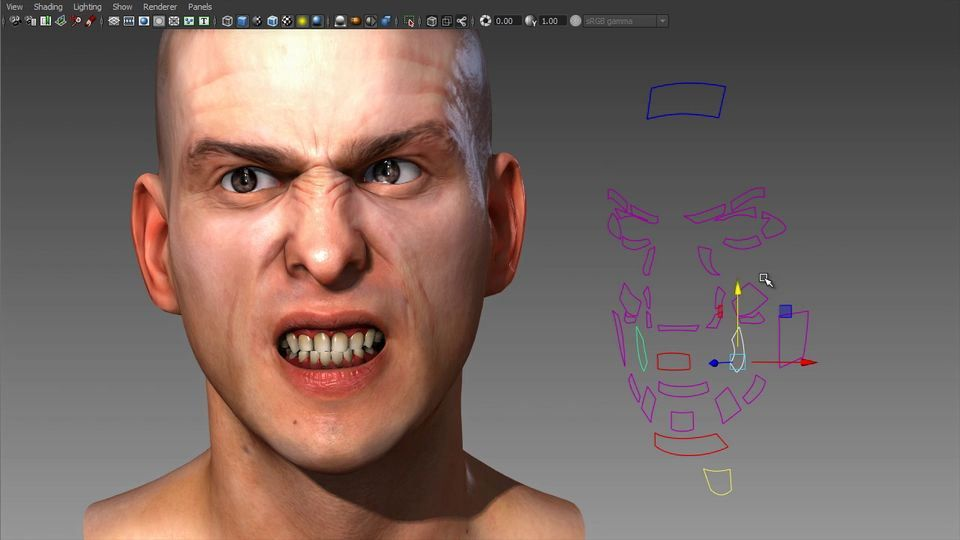 facial rigging in maya