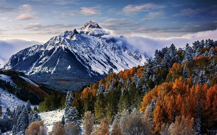Download imagens Monte Sneffels, 4k, montanhas, inverno