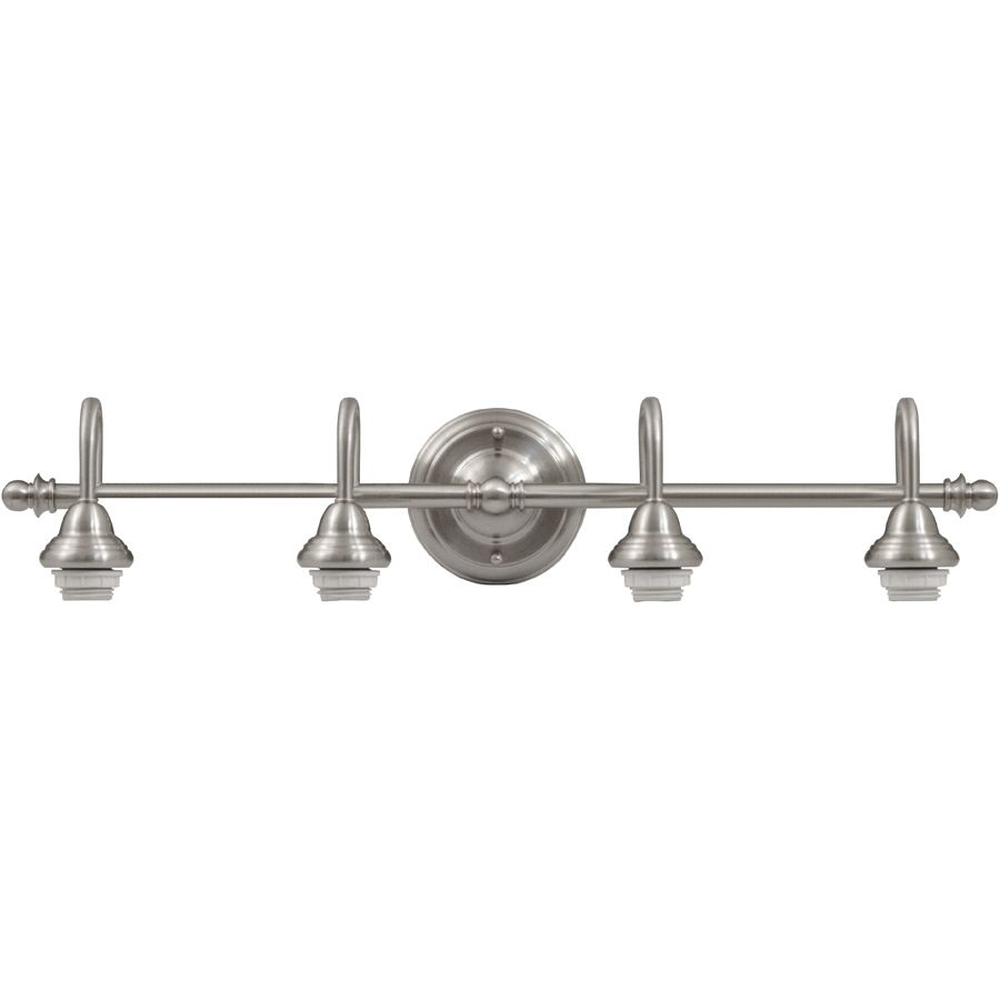 nice Portfolio 4 Light Vanity Bar Brushed Nickel Part - 4: Portfolio Du0026C 4-Light 5.71-in Brushed Nickel Vanity Light
