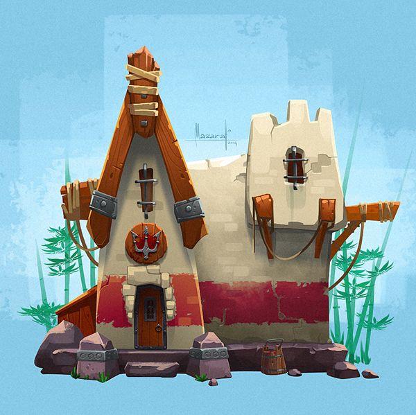 Little house on Behance Game Design Pinterest House, Art and
