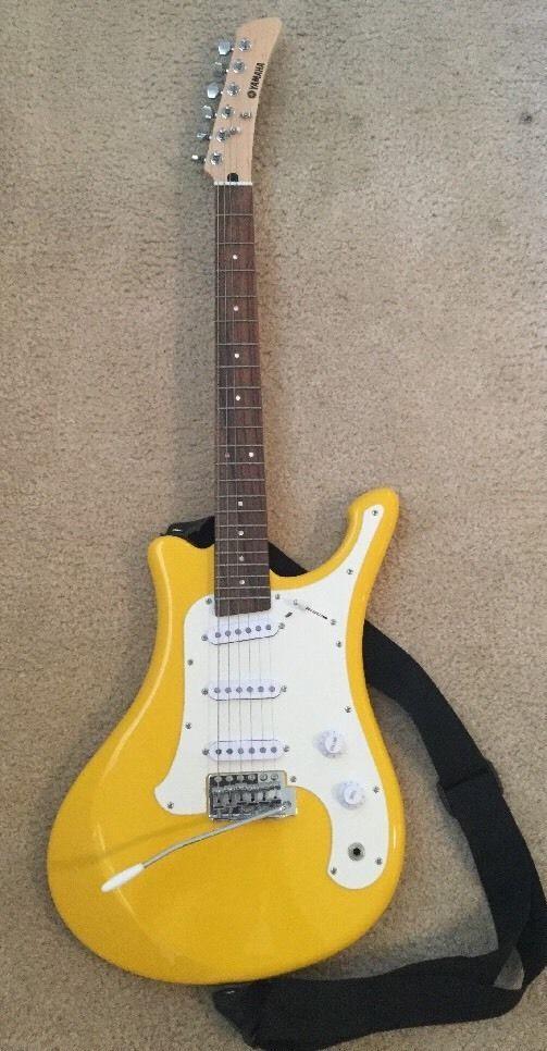 Rare Yamaha Egv103c Electric Samurai Surf Guitar Hi Liter Yellow Yamaha Yamaha Guitar Surf Guitar Electric Guitar For Sale