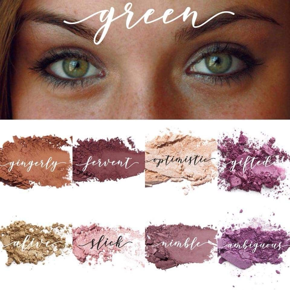 green or hazel eye shadow colors | younique party in 2019