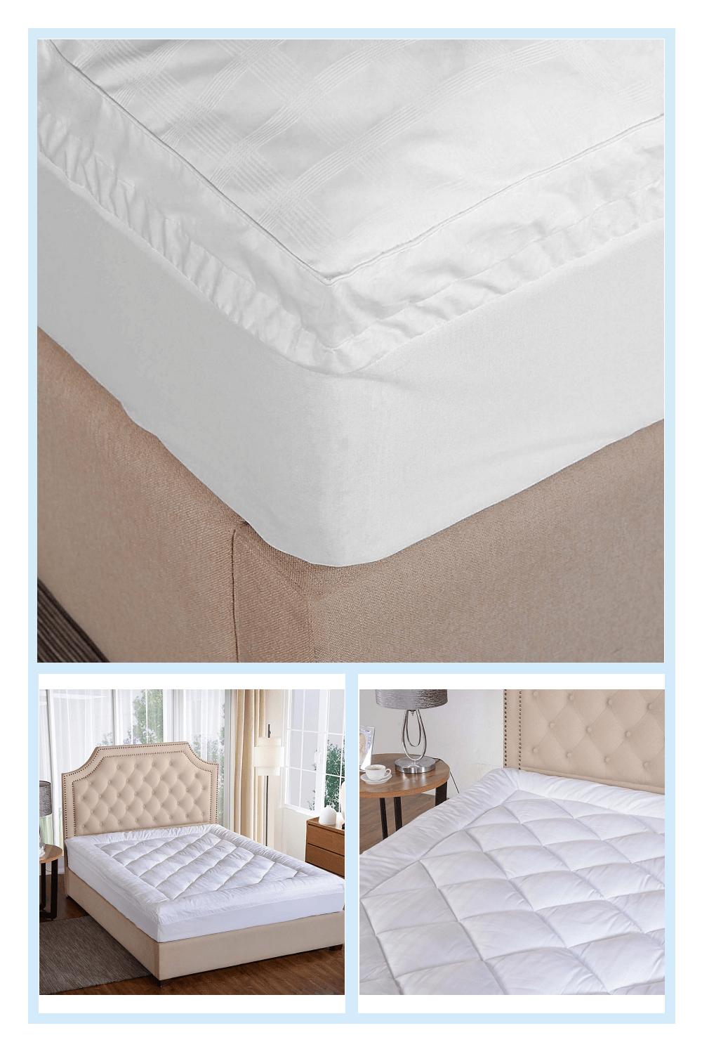 St James Home 450 Thread Count Ultra Queen Mattress Pad With Gusset In White In 2020 Mattress Mattress Pad Twin Mattress