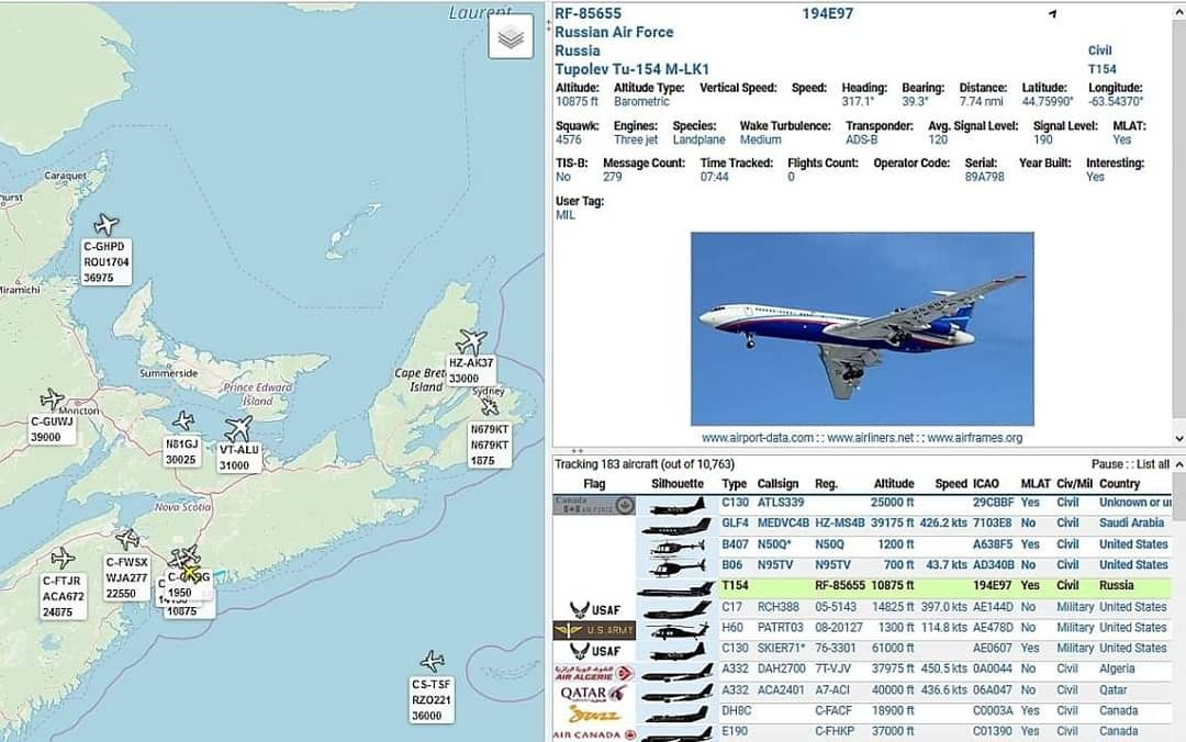 A Neat Visitor Flew Into Halifax Stanfield International Airport Today Russian Air Force Tupolev Tu 154 M Lk1 Rf 8 Russian Air Force Military Forces Air Force