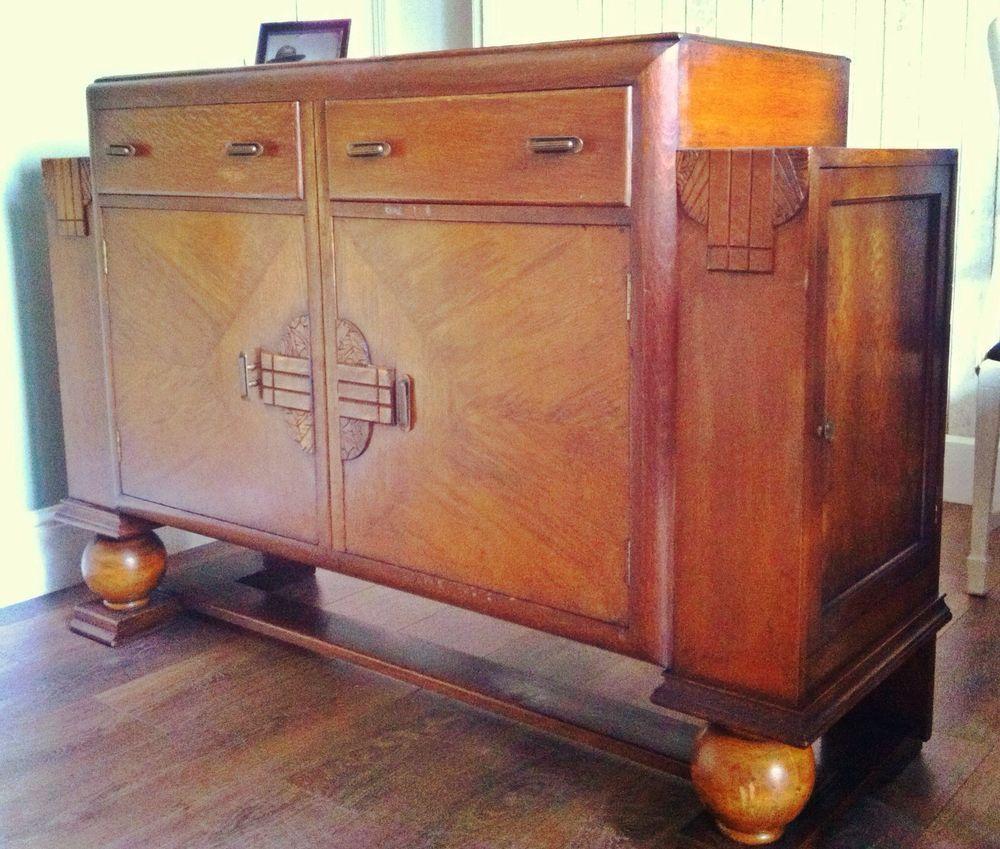 Cool Art Deco Kitchen Cabinets: 1930s Art Deco Drinks Cabinet. Bakelite Handles Knobs