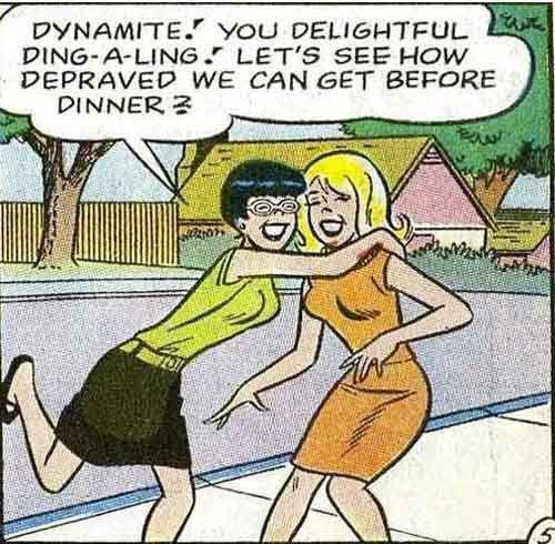 Vintage Comics With A Lesbian Twist Comic Book Panels Vintage