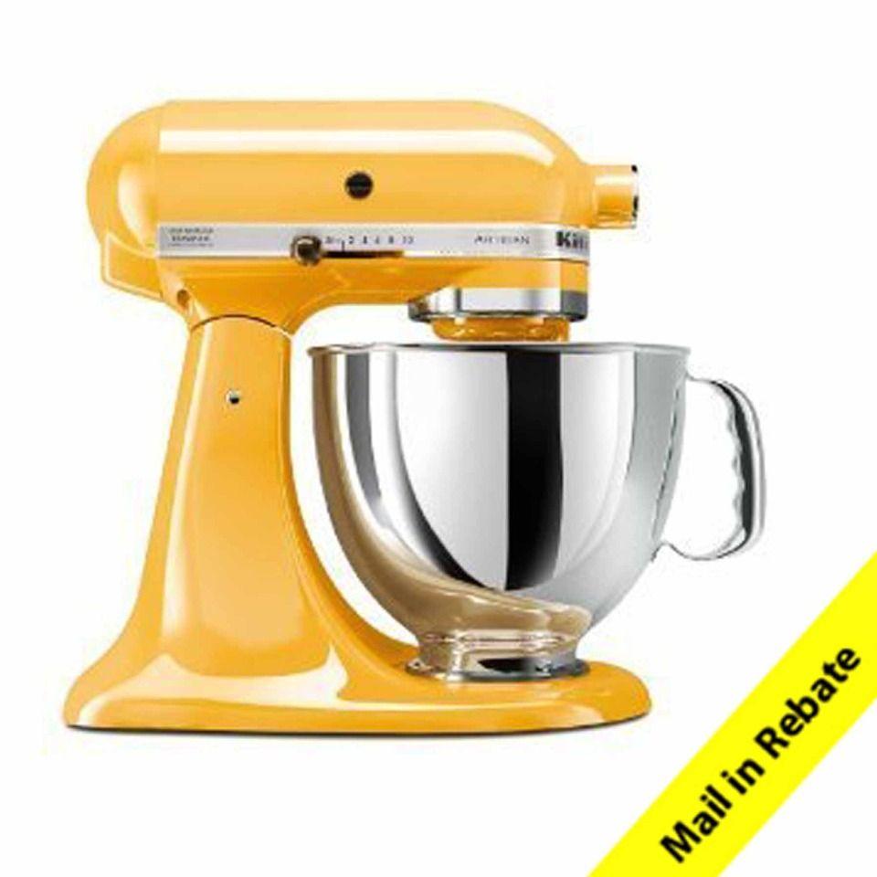Kitchenaid artisan 5 quart stand mixer in buttercup love