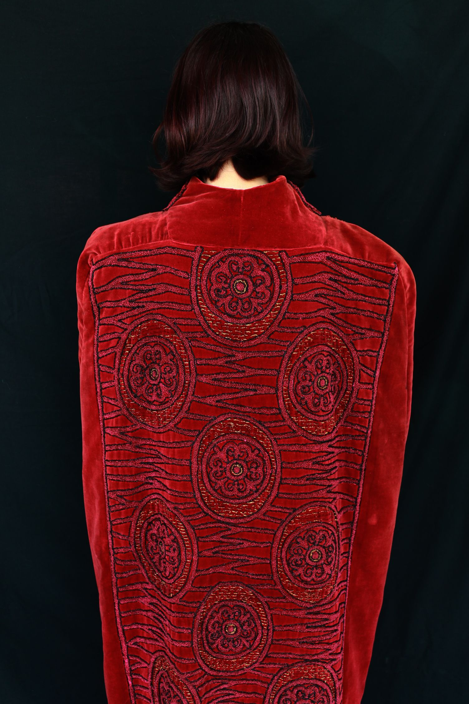 The most amazing beaded/embroidered 1940s red velvet cape I have ever seen!