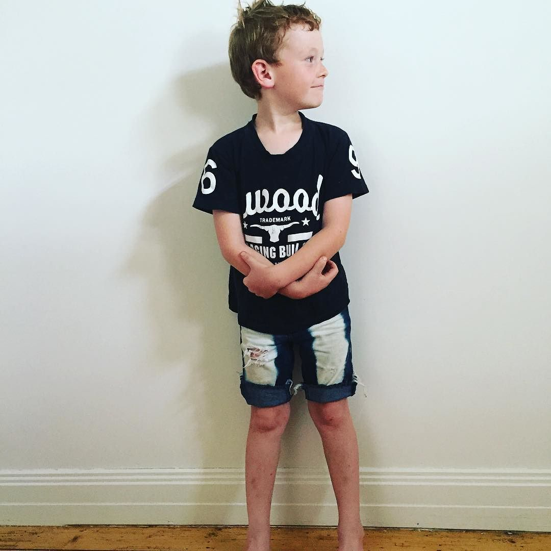 """My 6 year old loves his they're """"so cool"""" get your kiddos looking """"so cool"""" too #customdenim #shop3280 #shopsmall #warrnambool by memphis_made_apparel"""