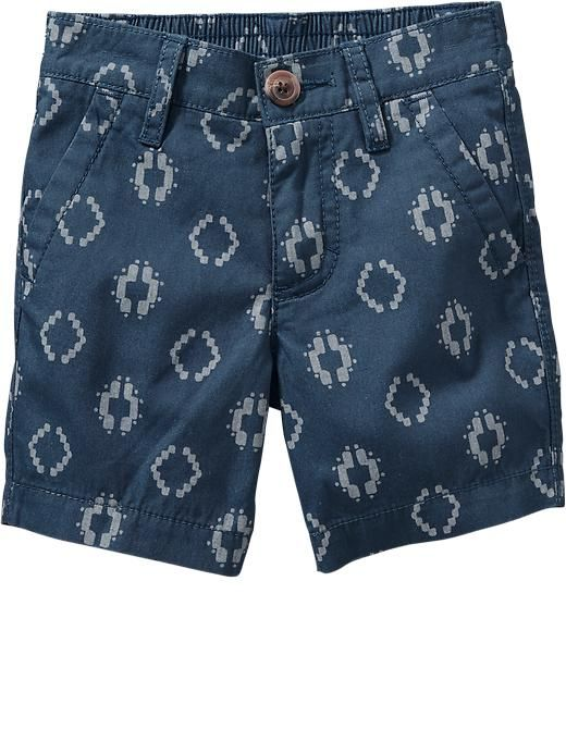 Patterned Canvas Shorts for Baby Product Image