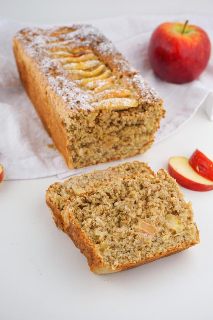 Apfel Haferflocken Kuchen ohne Zucker – Gesundes Fitness Rezept