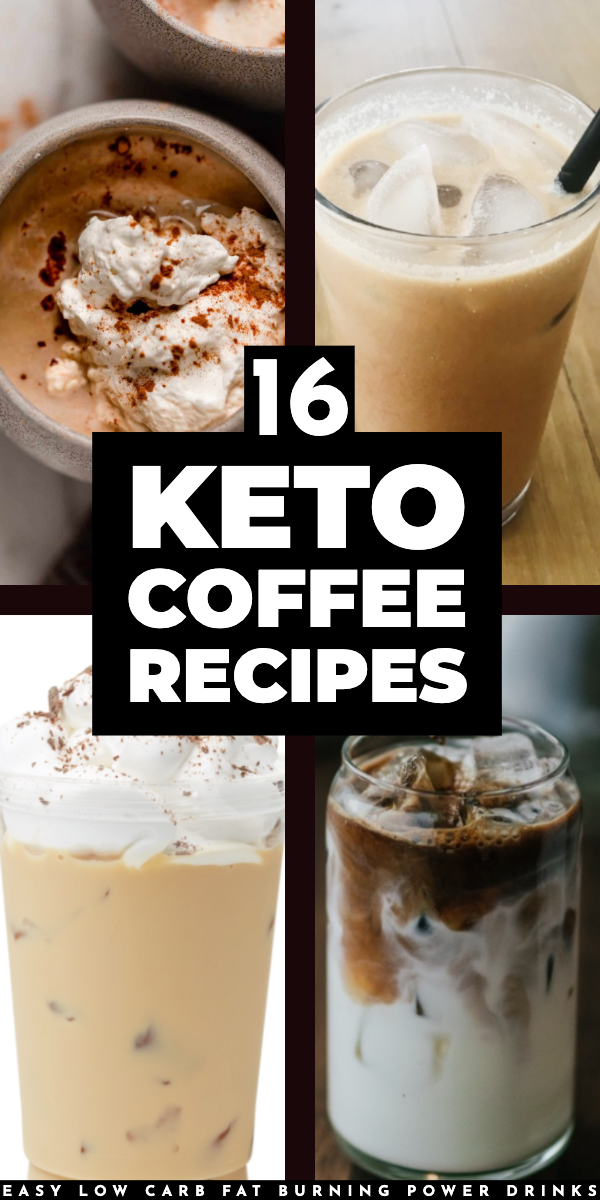 16 Keto Coffee Recipes That Energize & Burn Fat Fat All Day #ketofrappucinostarbucks