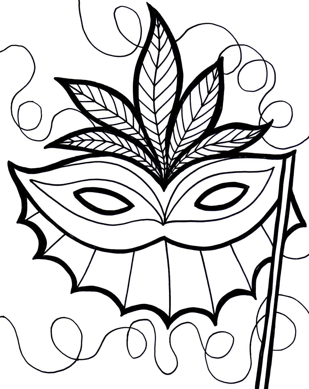 Mardi Gras Coloring Masks | carnevale | Pinterest | Carnavales ...