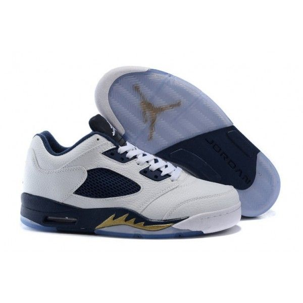 d3ae832a619d89 2016 collection air jordan 5 low white metallic gold star midnight navy  dunk from above outlet
