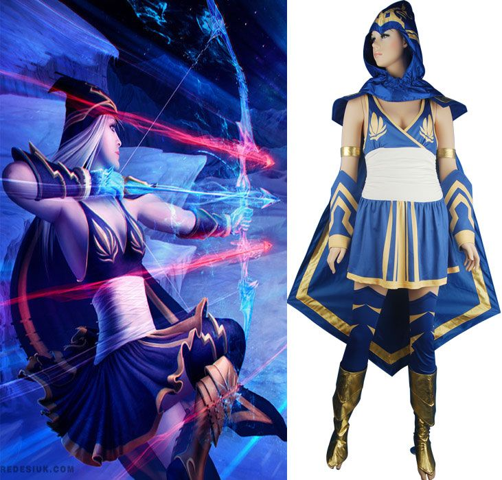 League of Legends Ashe cosplay costume halloween costume game ...
