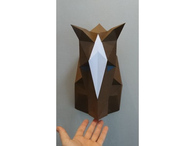 low poly horse papertrophy papercraft free template free