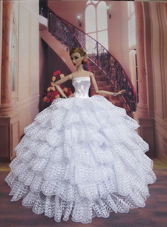 Free Knitting Pattern For Barbie Wedding Dress : Barbie Doll Clothes Barbie dress Handmade Barbie by Blueberry3, USD18.90 Barb...