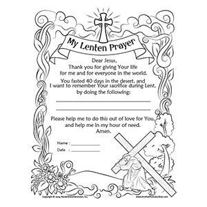 Lenten coloring page from Herald Entertainment Catholic
