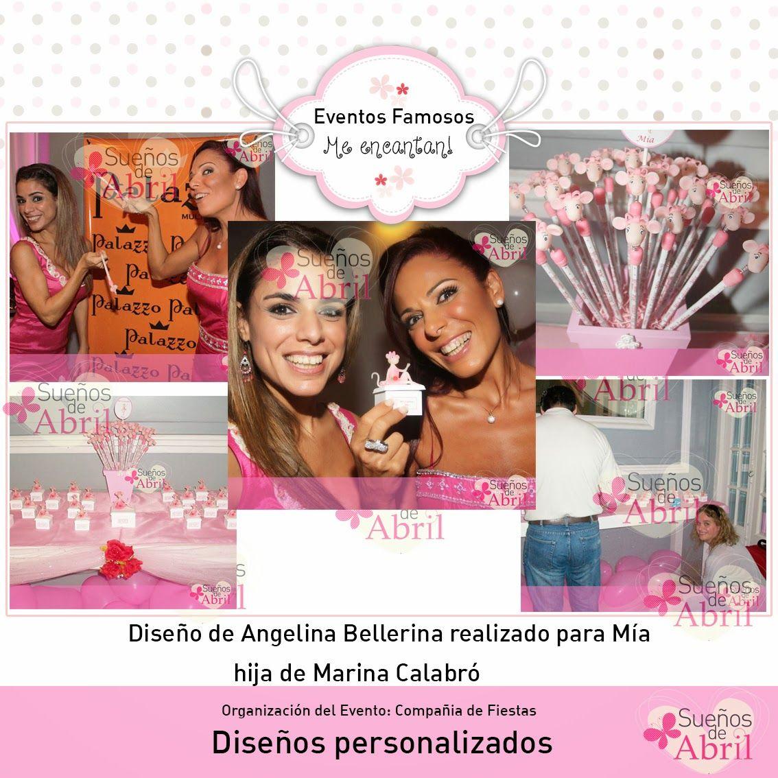 souvenirs para los 2 años de Mía hija de Marina Calabró!