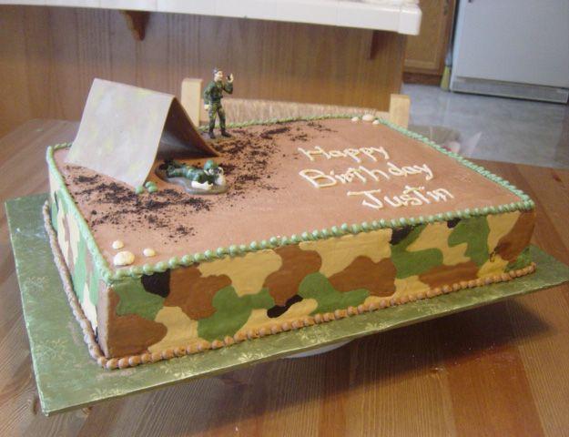 army birthday cakes men birthday birthday ideas military cake army ...