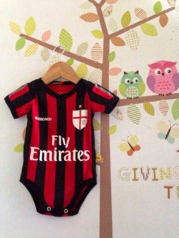 Ac Milan Baby Jumper Baby Clothes Jersey Bola Bayi Baju Bayi Lucu Http Jerseybolabayi Com Baju Bayi Bayi Lucu Bayi