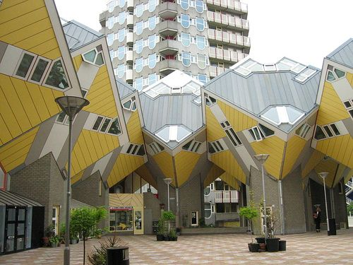 Kubuswoning (Cubic Houses) by Piet Blom, Rotterdam (The
