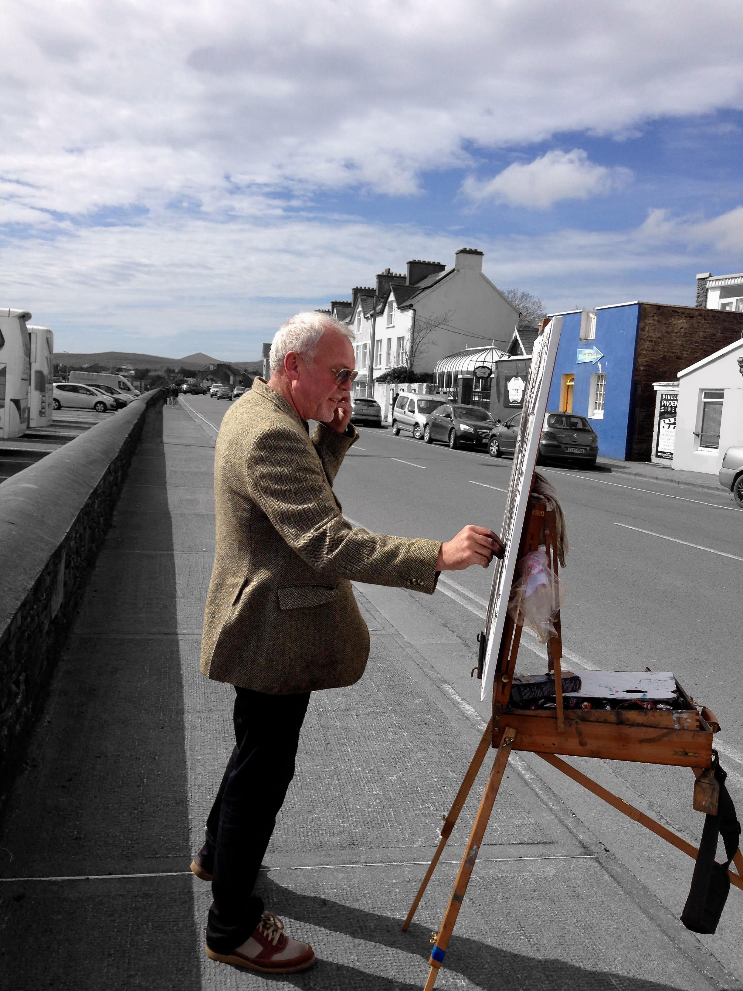 2015 april 15 gerard byrne painting out of the blue restaurant - Blue Restaurant 2015