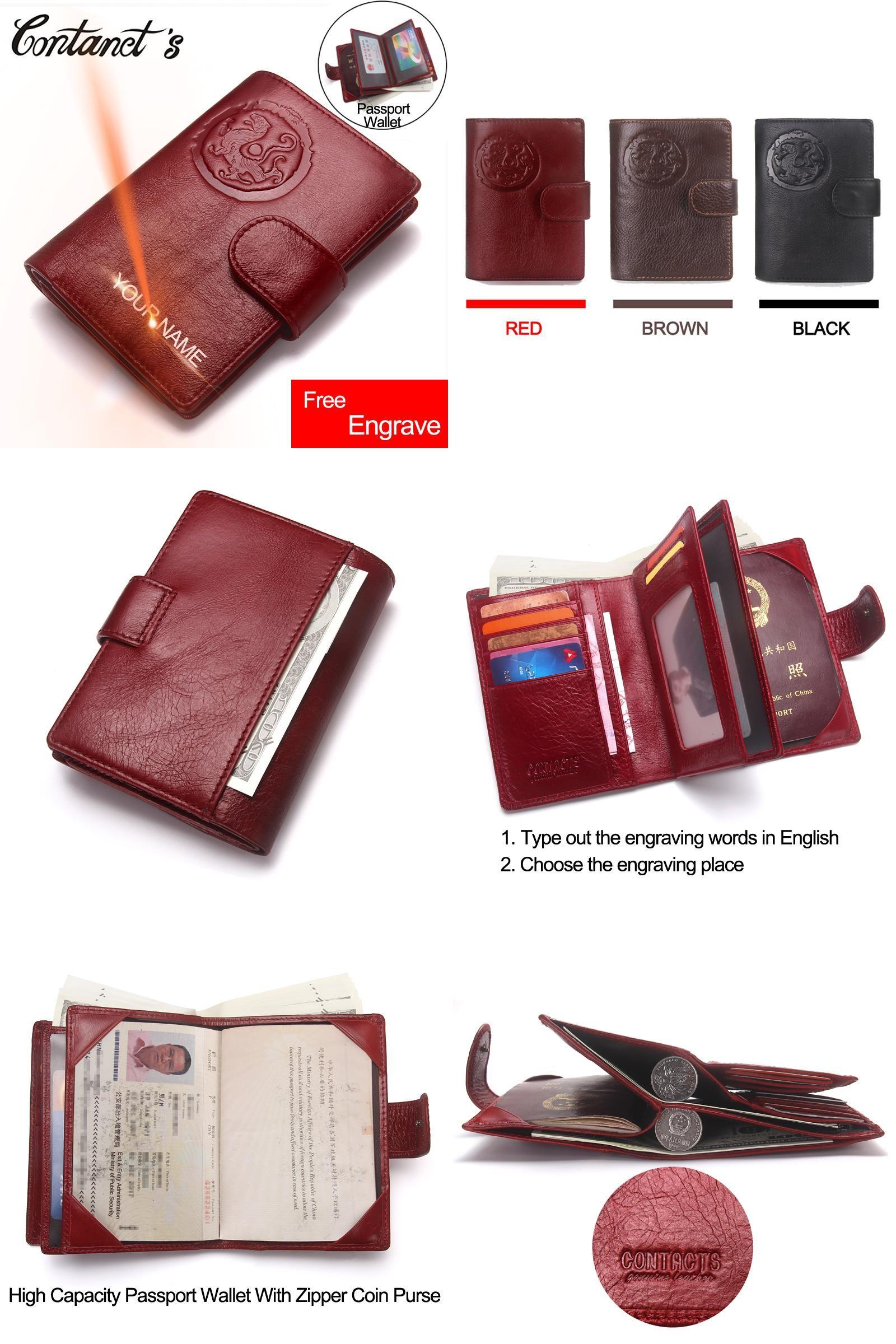 Visit to Buy] Passport Wallet Genuine Leather Women Travel Wallets ...