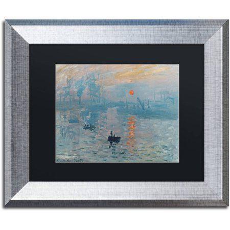 Trademark Fine Art Impression Sunrise Canvas Art by Claude Monet ...