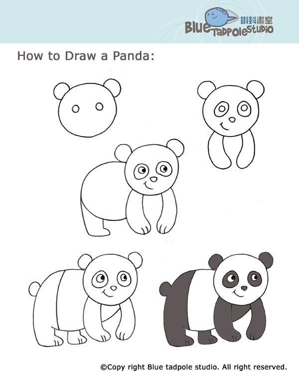 Bien-aimé How to draw a panda | Doodles Drawings | Pinterest | Draw animals  KF86