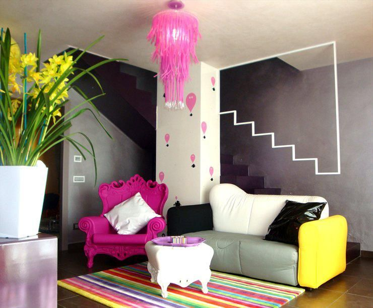 Modern, colorfull and playful design in M House located in Livorno, Italy by oikia studio.on design-dautore.com