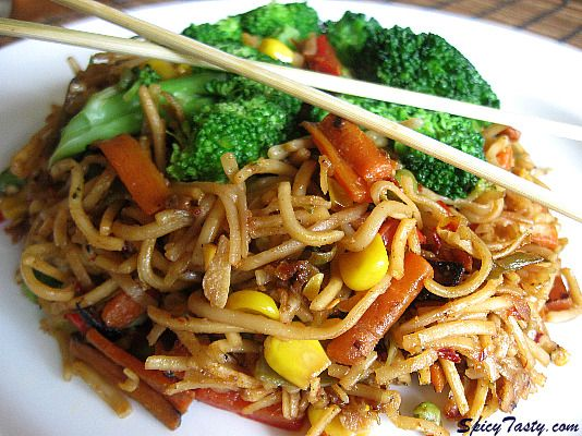 Stir fried noodles with vegetables spicy tasty spicy stir fried noodles with vegetables spicy tasty asian recipeseasy chinese food forumfinder Images