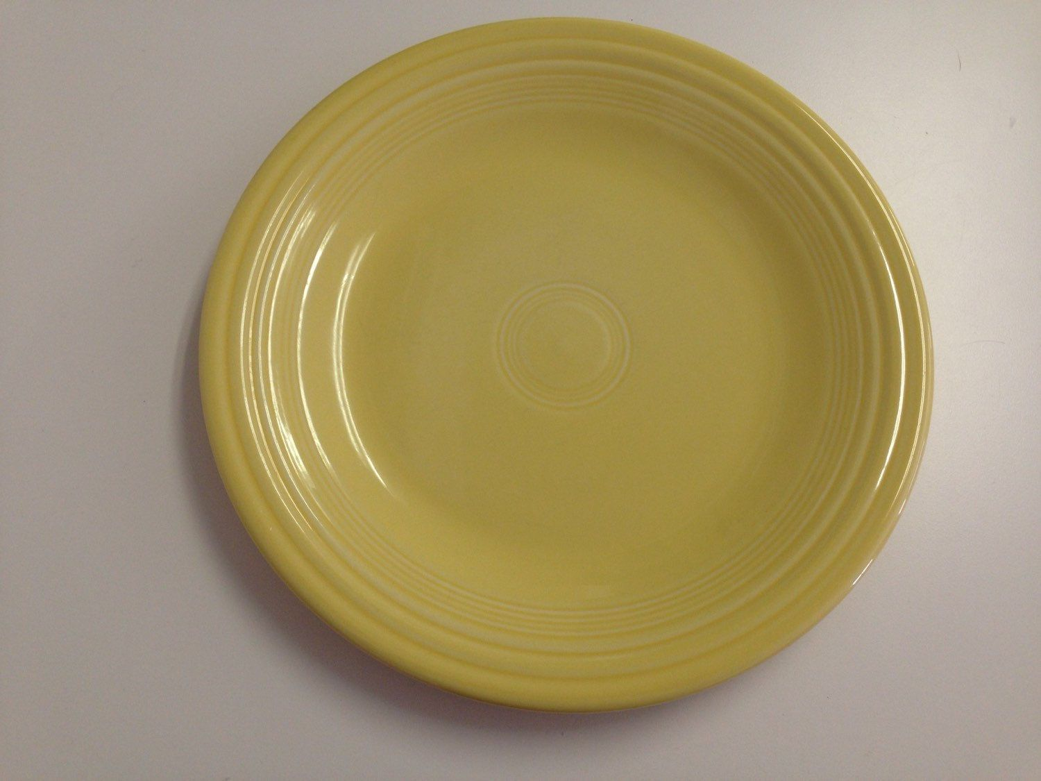 Fiesta Ware Pale Yellow Dinner Plate 10\  2 Available & Fiesta Ware Pale Yellow Dinner Plate 10\